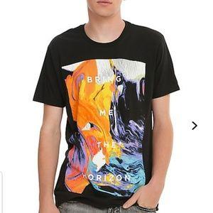 "Hot Topic ""Bring Me The Horizon"" Painted Tee Shirt"